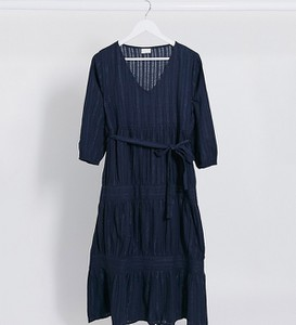 Granatowa sukienka Mama Licious midi
