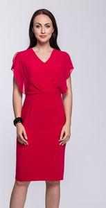 Czerwona sukienka Semper dopasowana bez rękawów