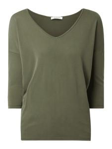 Zielona bluzka Pieces w stylu casual z długim rękawem