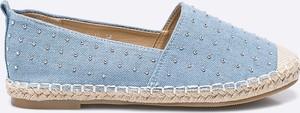 Błękitne espadryle Answear w stylu casual z płaską podeszwą