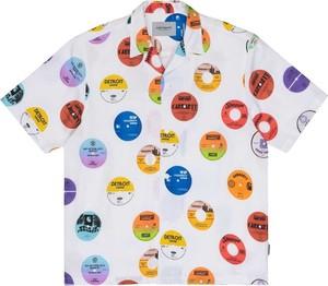 Koszula Carhartt WIP z bawełny w młodzieżowym stylu z nadrukiem