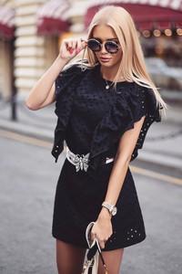 Sukienka Ivet.pl z okrągłym dekoltem