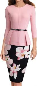 Sukienka Arilook midi ołówkowa z okrągłym dekoltem