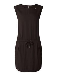 Czarna sukienka Ragwear z okrągłym dekoltem bez rękawów
