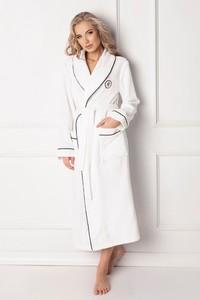 7d5cb8007a491a szlafrok biały frotte - stylowo i modnie z Allani