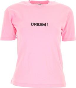 Różowa bluzka MSGM z okrągłym dekoltem