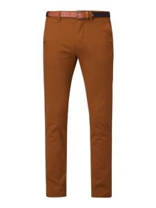 Brązowe spodnie Selected Homme z bawełny