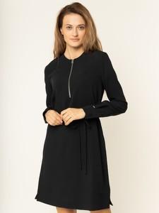 Czarna sukienka Calvin Klein w stylu casual z długim rękawem