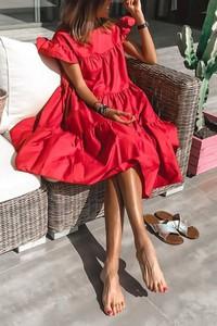 Czerwona sukienka IVET