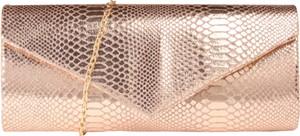 Różowa torebka Mascara ze skóry