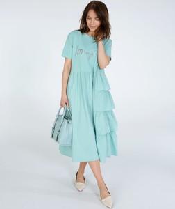 Sukienka Unisono midi z krótkim rękawem