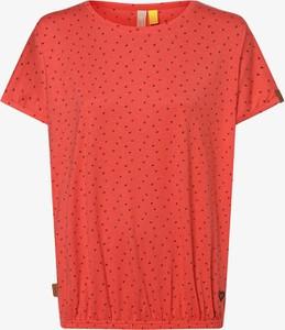 Czerwony t-shirt Alife And Kickin z okrągłym dekoltem z krótkim rękawem w stylu casual