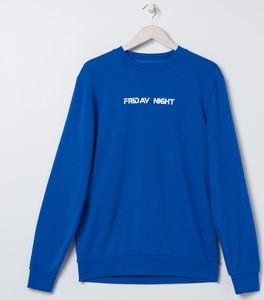 Niebieska bluza Sinsay z dresówki
