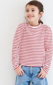 Bluzka dziecięca Reserved z bawełny w paseczki dla dziewczynek