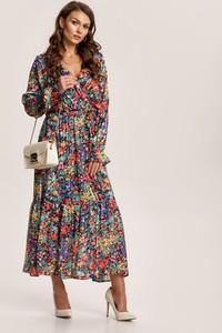 Sukienka Renee trapezowa z długim rękawem maxi