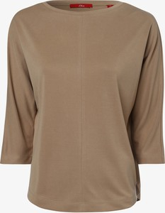 T-shirt S.Oliver z okrągłym dekoltem w stylu casual z długim rękawem