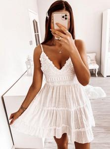 Sukienka Pakuten w stylu boho trapezowa mini