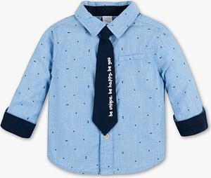Niebieska koszula dziecięca Baby Club dla chłopców z bawełny