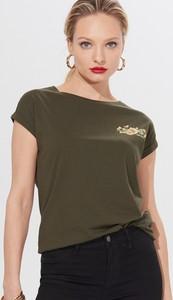 Zielony t-shirt Mohito