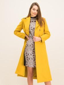 Żółty płaszcz Tory Burch w stylu casual