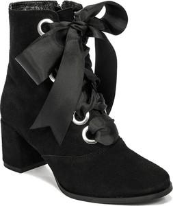 08389843d193e czarne botki do sukienki - stylowo i modnie z Allani