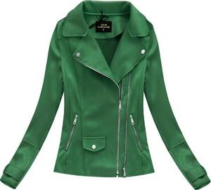 Zielona kurtka Libland w rockowym stylu krótka