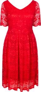 Sukienka KARKO z dekoltem w kształcie litery v midi z dzianiny