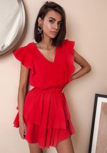 Sukienka Latika mini bez rękawów z dekoltem w kształcie litery v
