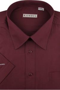 Koszula Konsul z krótkim rękawem z klasycznym kołnierzykiem