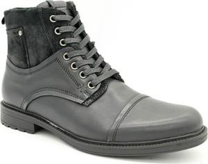 Buty zimowe American Club w stylu casual sznurowane