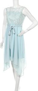 Niebieska sukienka Billie & Blossom asymetryczna mini