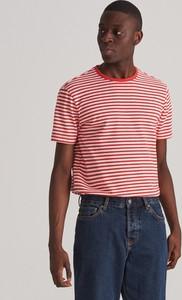 Czerwony t-shirt Reserved z krótkim rękawem