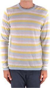 Sweter Daniele Alessandrini w młodzieżowym stylu z okrągłym dekoltem