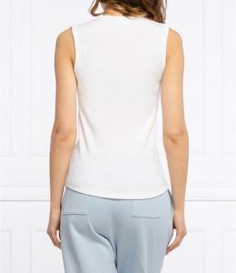 Bluzka Calvin Klein bez rękawów z okrągłym dekoltem