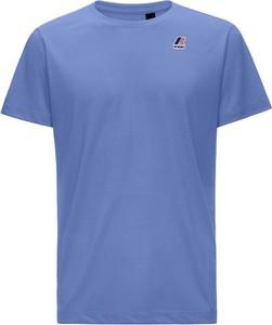 Niebieski t-shirt K-Way w stylu casual