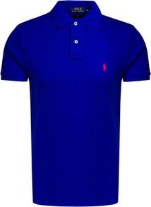 Niebieski t-shirt POLO RALPH LAUREN w stylu casual z krótkim rękawem