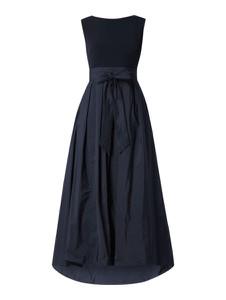 Granatowa sukienka Swing bez rękawów rozkloszowana