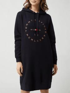 Sukienka Tommy Hilfiger prosta mini z długim rękawem