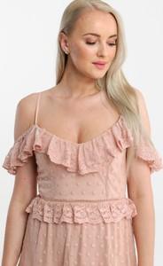 Sukienka Butik Ecru na ramiączkach w stylu boho