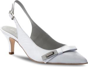 Sandały Eva Minge z klamrami na obcasie w stylu klasycznym