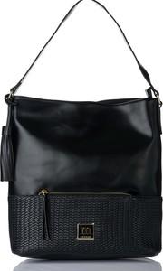 Czarna torebka Monnari duża na ramię