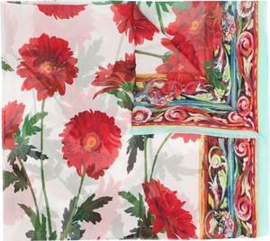 Czerwony szalik Dolce & Gabbana