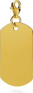 GIORRE SREBRNY CHARMS NIEŚMIERTELNIK GRAWER 925 : Kolor pokrycia srebra - Pokrycie Żółtym 24K Złotem