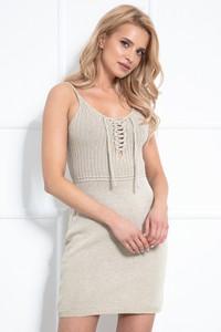 Sukienka Fobya mini na ramiączkach dopasowana