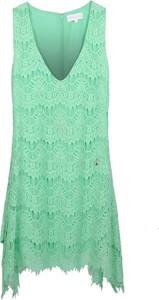 Niebieska sukienka Patrizia Pepe mini bez rękawów