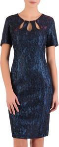 Niebieska sukienka POLSKA midi w stylu klasycznym