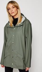 Zielona kurtka Rains krótka