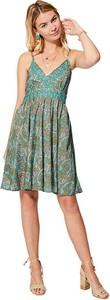 Zielona sukienka Ipanima mini z dekoltem w kształcie litery v