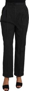 Czarne spodnie Dolce & Gabbana z bawełny