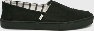 Czarne buty letnie męskie Toms z tkaniny